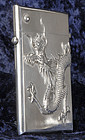 Chinese Silver Card Case with Dragon, Luen Wo, c. 1900.