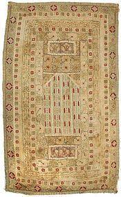 Ottoman Empire Composite Prayer Cloth Panel, 19th C.