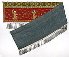 Chinese Embroidered Valance w. Lokapalas, 19th C.