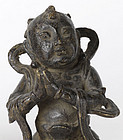 Chinese Bronze of Worshiper with Base, Ming.