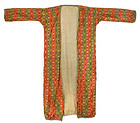 An Antique Islamic Ikat Mashru Silk Satin Robe.