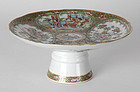 "Chinese Export ""Canton Rose"" Pedestal Dish, 19th C."