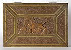 Large Carved Persian Qajar Sandalwood Box, 19th C.