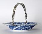 Chinese Porcelain Dish w. Dutch Silver Mounts, Kangxi.