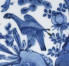 Chinese Blue & White Porcelain Saucer - Bird of Prey #2