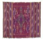 Antique Persian Silk Ikat Bokce Cover.