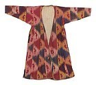 Antique Uzbek Silk Cotton Ikat Chapan Robe, # 2