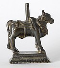 Antique Indian Bronze Figure of Nandi Bull.