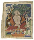 Small Tibetan or Mongolian Painting with Arhat, #1.
