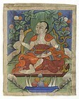 Small Tibetan or Mongolian Painting with Arhat, #9.