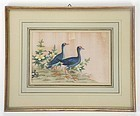 Chinese Bird & Flower Pith Paper Painting #2, 19th C.