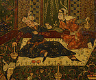 Persian Lacquer Papier Mache Mirror Case, 18th/19th C