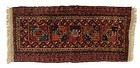 Antique Turkoman Knotted Pile Bag Face Panel.
