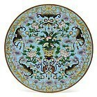 Chinese Round Cloisonne Enamel Plaque #1, Late Qing