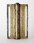 Antique Indo Persian Koftgari Style Steel Belt Buckle.