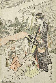 Toyokuni I Utagawa - Japanese Woodblock Print, c. 1800