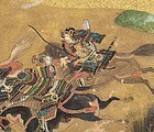 "Japanese Fan Painting #2 of ""Heike Monogatari"", 17th C"