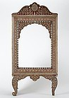 Large Anglo Indian Inlaid Wood Mirror Frame, Hoshiarpur 19th C.