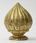 Ottoman Gilt Copper Tombak Finial, 18th / 19th C.
