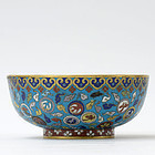 Antique Large Chinese Cloisonne Enamel Bowl, 18th/19th C.