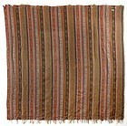 Antique Woven French Wool Kashmir Shawl with Stripes, 19th C.