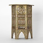 Inlaid Mamluk Revival Cairoware Miniature Table Box, Egypt or Syria.