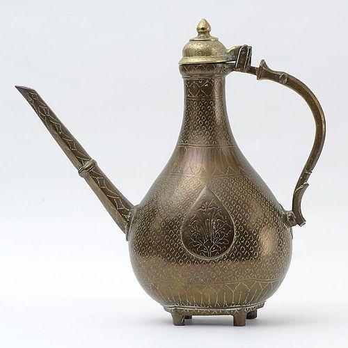 Antique Islamic Mughal Brass or Bronze Ewer, 18th / 19th C.