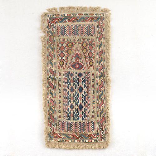 Antique Ottoman Empire Composite Tapestry Prayer Cloth Panel.