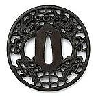 Iron Tsuba in Nanban style, Japan, Edo period.