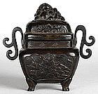 Japanese Bronze Koro, Edo Period.