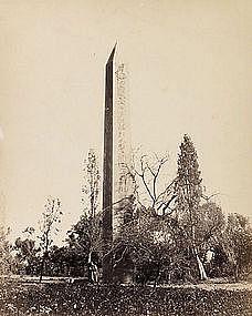 Early Albumen Photograph: Egypt, Obelisk. Pre 1880.