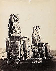 Early Albumen Photograph: Egypt, Thebes. Pre 1880.