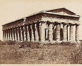 Albumen Photograph of Temple of Poseidon, c. 1870.