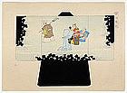 Japanese Kimono Design Woodblock Print No. 11, Meiji