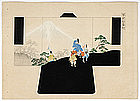 Two Japanese Kimono Design Prints No. 20 and 21