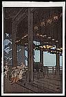 Hiroshi Yoshida Woodblock Print - Nigatsudo Temple