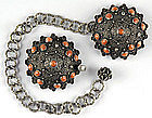 Islamic Cloak Clasp with Corals and Pearls, c. 1900.