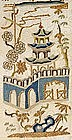 Chinese Sleeve Band with Peking Knot Embroidery, Qing.