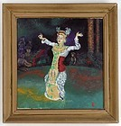 Framed Oil Painting of a Balinese Dancer, 1950.
