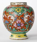 Lai Nam Thong Bencharong Porcelain Jar, 19th C.