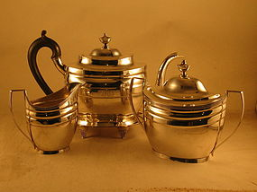 4-pieceTea Service.by Hugh Wishart, NY, circa1810