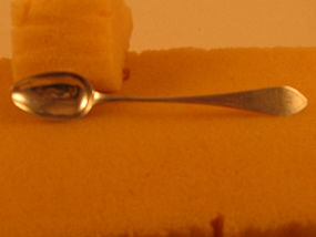 Teaspoon marked B.B in rectangle, c.1810
