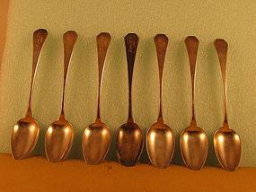 7 Dessert spoons by Robert Wilson, NYC, circa 1805