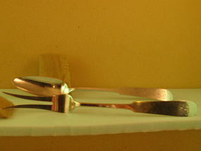 Serving set by Old Newbury Crafters, 20th century