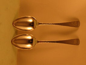 Pair of tablespoons by Van Voorhis, NY, c.1790's