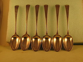 6 Tablespoons by Joseph Richardson, Jr., Phila.,c.1790