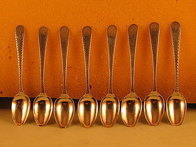 8 Teaspoons by Joseph Richardson, Jr., Phila., circa 1790's