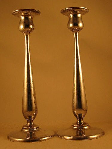 "Pair of 12"" candlesticks by Kalo"