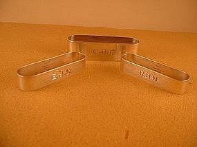 Three napkin rings by Randahl