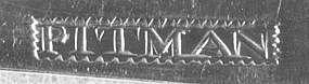 Six teaspoons by Saunders Pitman;Providence, RI; c.1800